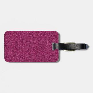 Pink Glitter Luggage Tag
