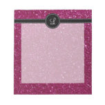 Pink Glitter Memo Note Pads