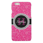 Pink Glitter Monogrammed Case Savvy iPhone 6 Case Glossy iPhone 6 Case