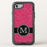 Pink Glitter Monogrammed Otterbox Otterbox Defender Iphone 8/7 Case at Zazzle