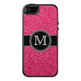 Pink Glitter Monogrammed Otterbox OtterBox iPhone 5/5s/SE Case