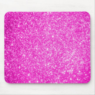 Pink Glitter Mouse Pads