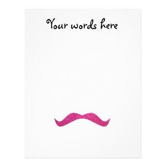 """Pink glitter mustache 8.5"""" x 11"""" flyer"""