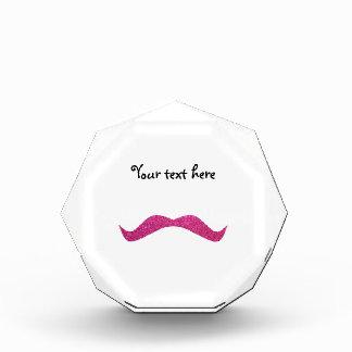 Pink glitter mustache award