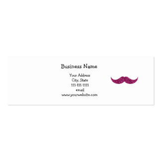Pink glitter mustache Double-Sided mini business cards (Pack of 20)