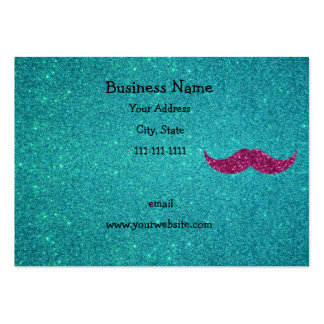 Pink glitter mustache large business cards (Pack of 100)