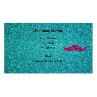 Pink glitter mustache Double-Sided standard business cards (Pack of 100)