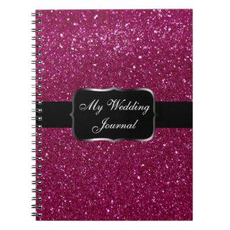 Pink Glitter Notebook
