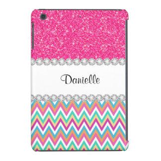 Pink Glitter Pastels Chevron iPad Mini Retina Case