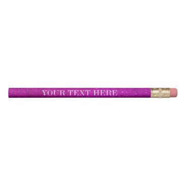 Beach Themed Pink glitter pencils with personalized name