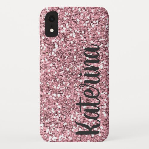 Pink Glitter Personalized with Your Name. Phone Case