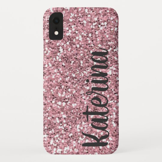 new style 29d38 88b35 Pink Glitter Personalized with Your Name. Case-Mate iPhone Case