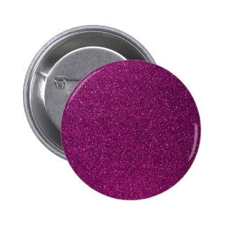 Pink Glitter Pinback Button