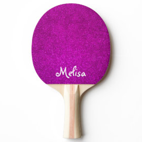 Pink glitter ping pong paddle for tabletennis girl ping pong paddle