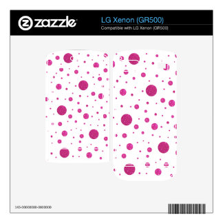 pink glitter polka dots decal for the LG xenon