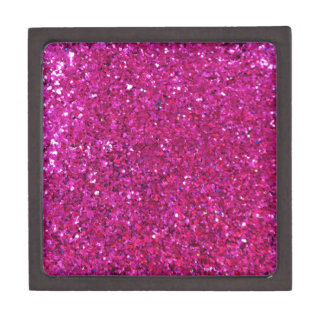 Pink Glitter Premium Trinket Box