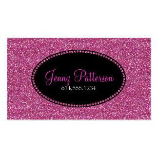 Pink Glitter Pretty Elegant Girly Business Cards