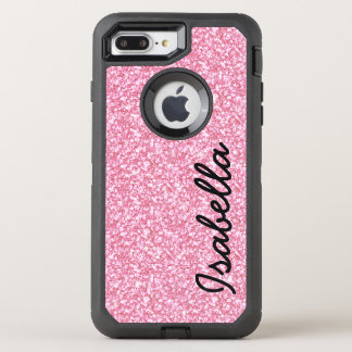 PINK GLITTER PRINTED OtterBox DEFENDER iPhone 7 PLUS CASE