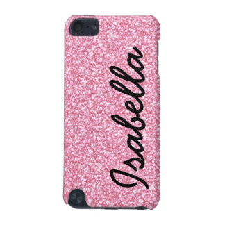 PINK GLITTER PRINTED PERSONALIZED iPod TOUCH (5TH GENERATION) COVER