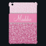 "Pink Glitter Rhinestone Leopard BLING Case iPad Cover For The iPad Mini<br><div class=""desc"">Pink Glitter Rhinestone Leopard BLING Case for  iPad  *Note: Rhinestones/Glitter is graphic image</div>"