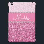 "Pink Glitter Rhinestone Leopard BLING Case iPad Cover For The iPad Mini<br><div class=""desc"">Pink Glitter Rhinestone Leopard BLING Case for  iPad  *Note: Rhinestones/Glitter is graphic image</div>"
