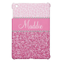 Pink Glitter Rhinestone Leopard BLING Case iPad Cover For The iPad Mini