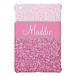 Pink Glitter Rhinestone Leopard Bling Case Ipad Ipad Mini Covers at Zazzle