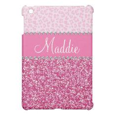 Pink Glitter Rhinestone Leopard Bling Case Ipad Ipad Mini Covers at Zazzle