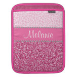 Pink Glitter Rhinestone Leopard BLING Case iPad Sleeves For iPads
