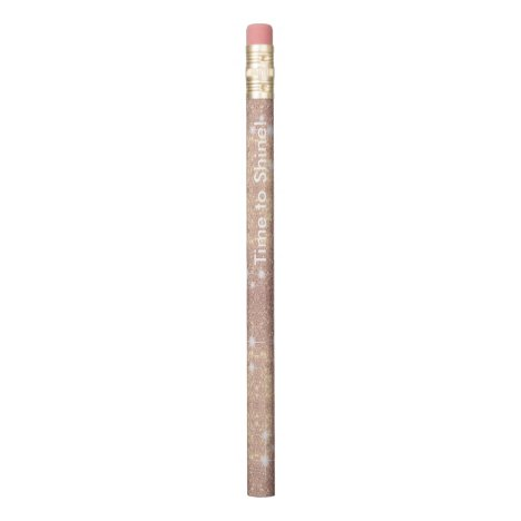 Pink Glitter Rose Gold Sparkle Faux Pencil