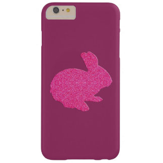 Pink Glitter Silhouette Easter Bunny iPhone 6 Case