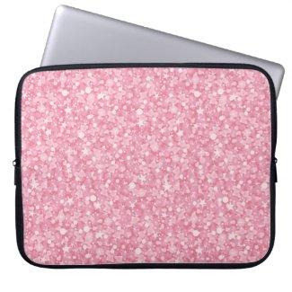 Pink Glitter Silver Gradient