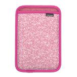 Pink Glitter Silver Gradient iPad Mini Sleeves