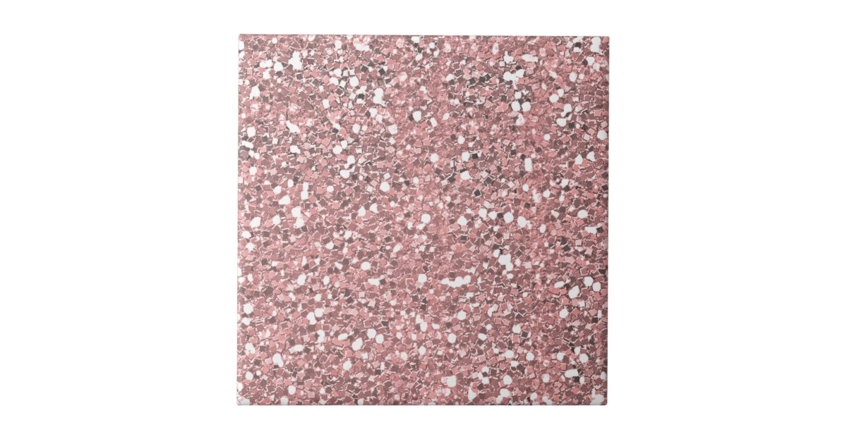 Pink Glitter Sparkle Ceramic Tile Zazzle