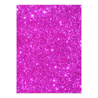Pink Glitter Sparkle Customizable Design 5.5x7.5 Paper Invitation Card