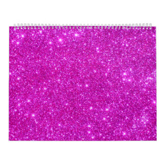 Pink Glitter Sparkle Customizable Design Calendar