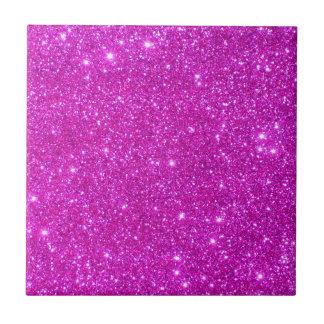 Pink Glitter Sparkle Customizable Design Ceramic Tile