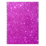 Pink Glitter Sparkle Customizable Design Spiral Note Book