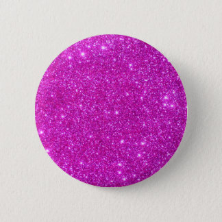 Pink Glitter Sparkle Customizable Design Pinback Button