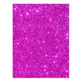Pink Glitter Sparkle Customizable Design Post Card