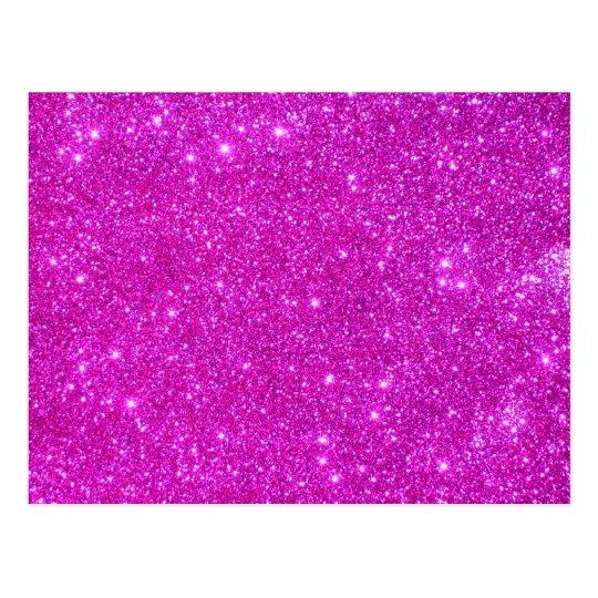 Pink Glitter Sparkle Customizable Design Postcard