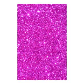 Pink Glitter Sparkle Customizable Design Customized Stationery