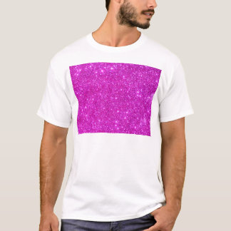Pink Glitter Sparkle Customizable Design T-Shirt