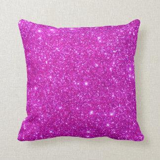 Pink Glitter Sparkle Customizable Design Throw Pillow