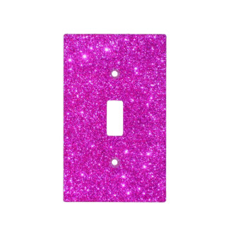 Pink Glitter Sparkle Girly Lightswitch Cover