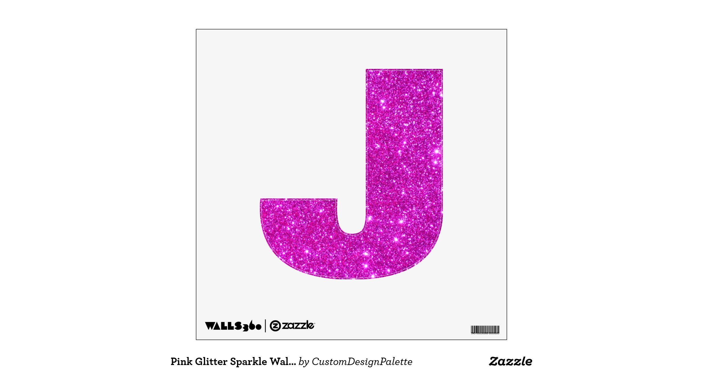 Pink glitter sparkle wall decal letter abcs for Pink glitter letters