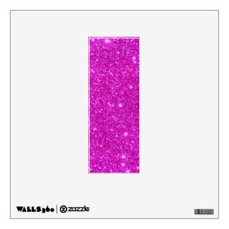 Glitter letters wall decals wall stickers zazzle for Pink glitter letters