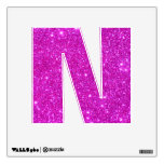 Pink Glitter Sparkle Wall Decal Letter Alphabet N<br><div class='desc'>Pink Glitter Sparkle Customizable Design ABCs Letter Alphabet N Wall Decal by CricketDiane Customizable - A selection of products including iphone and samsung cellphone cases, ipad and kindle cases, laptop cases, home fashions, accessories, pillows, business cards, office and kitchen goods, home and kitchen designer decor, and tshirts for customizing. This...</div>