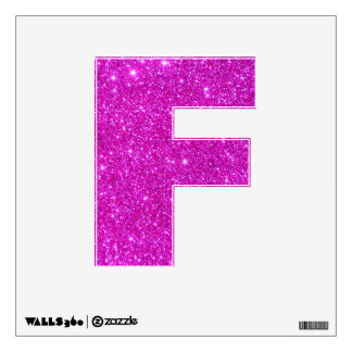 Pink Glitter Sparkle Wall Decal Letters Glittery F