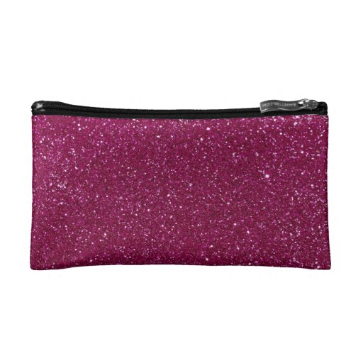 Pink Glitter Sparkles Cosmetic Bags